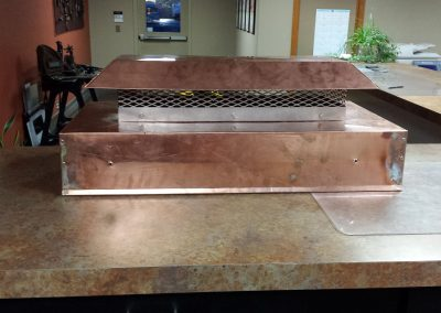Custom Copper Chimney Cap