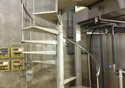 Custom Metal Stairs & Landing