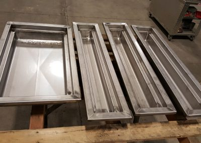 Custom Stainless Steel Restaurant Food Trays