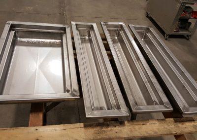 Custom Stainless Steel Restaurant Food Trays